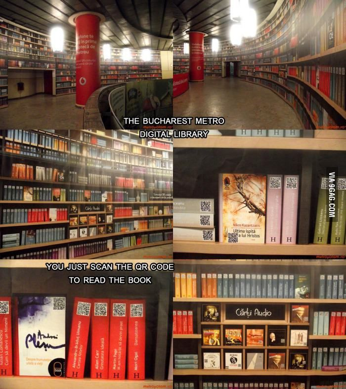 Digital Library at Bucharest Metro Station