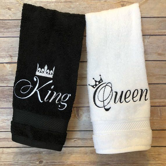 King And Queen Bathroom Towels You Pick The Towel Size And Color His And Hers Towels Made For Royalty Like You By August Ave Towels His And Hers Towels Towel Sizes