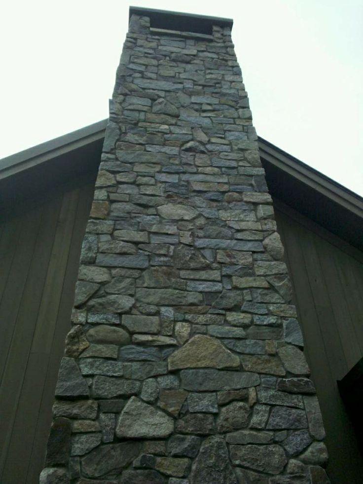 Faux Stone Chimney