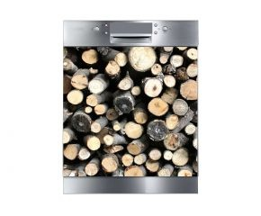flexibele magneet voor de vaatwasser met houtdecor