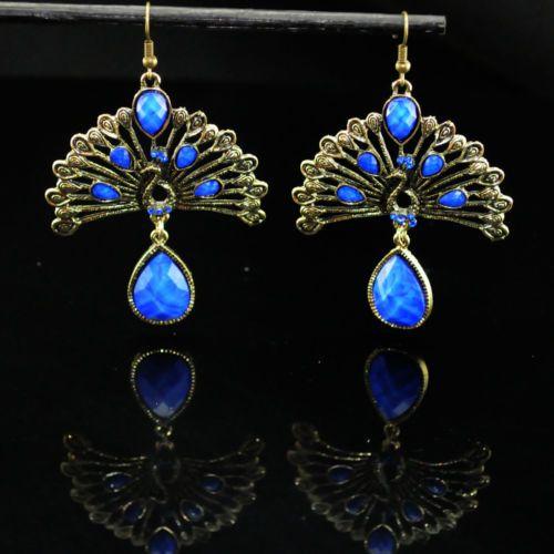 Bohemia-retro-blue-peacock-hangging-earrings-charm-crystal-drop-dangle-earrings