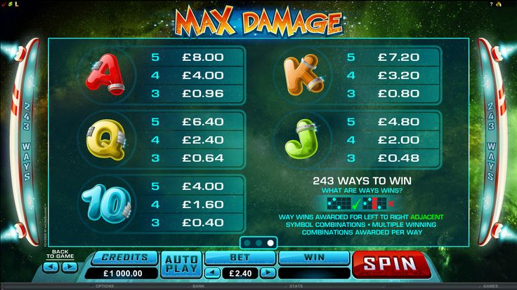 Max Damage Online Slot Game