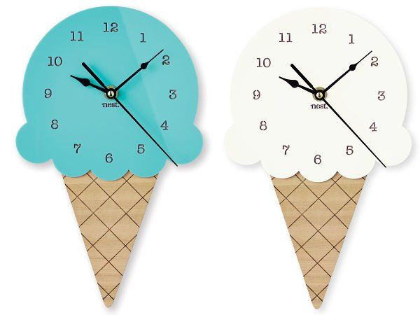 The Ice Cream Wall Clock - delicious nursery décor
