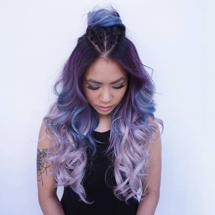 30 Mesmerizing Mermaid Hair Color Ideas — Real Life Fantasy Check more at http://hairstylezz.com/best-mermaid-hair-color-ideas/