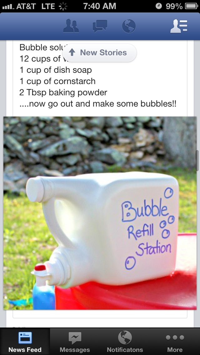 Bubble station, bubble recipe is good