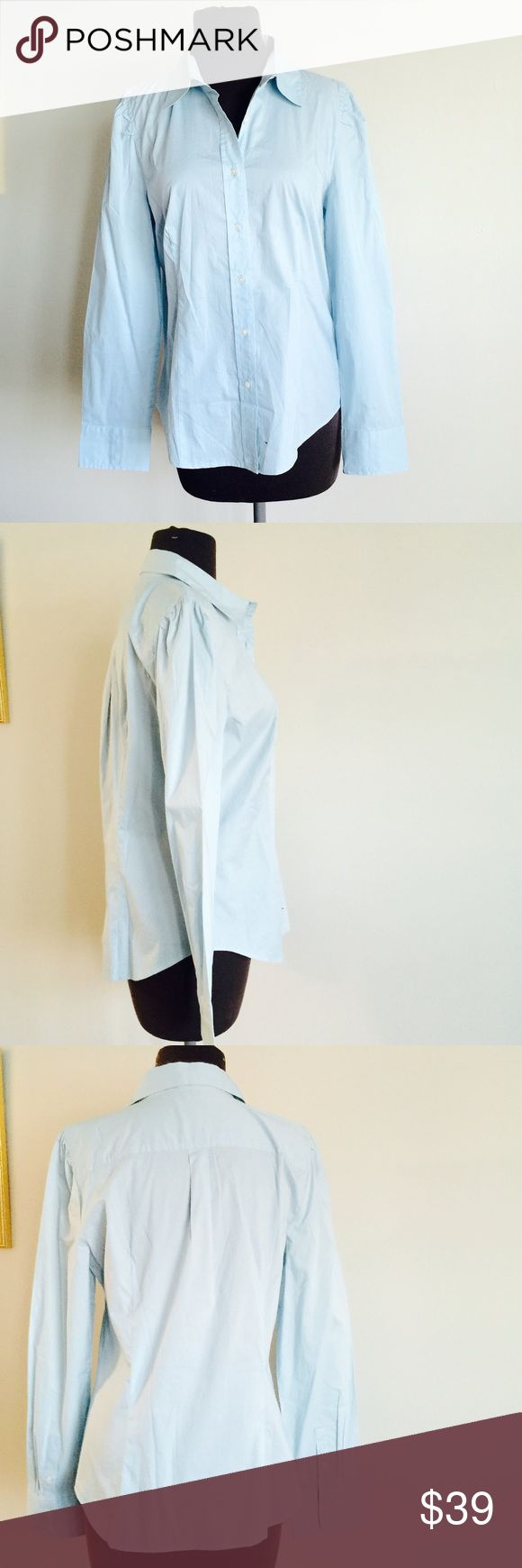 ❗️Talbots Stretch Sky Blue Botton Down MSRP $98 ❗️Talbots Stretch Sky Blue Button Down. In great condition retails $98. Size 12. Make an offer! I consider all reasonable offers on items & give great bundle deals! Spring cleanout sale--all must go! ;-) Talbots Tops Button Down Shirts