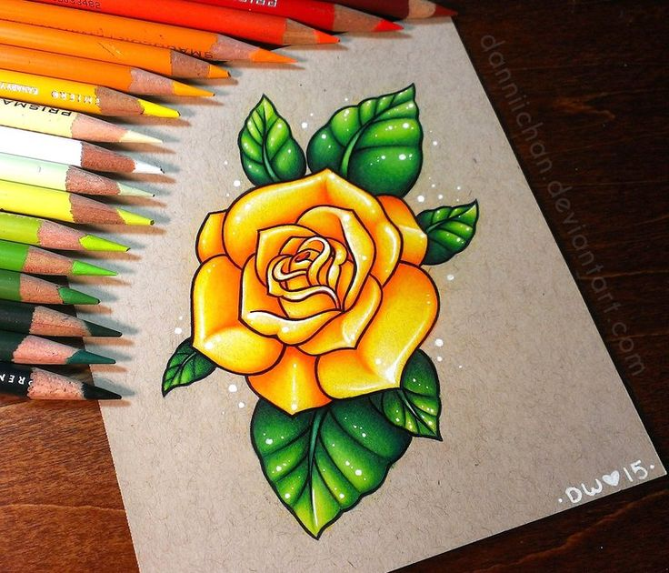 Yellow Rose - Commission by danniichan