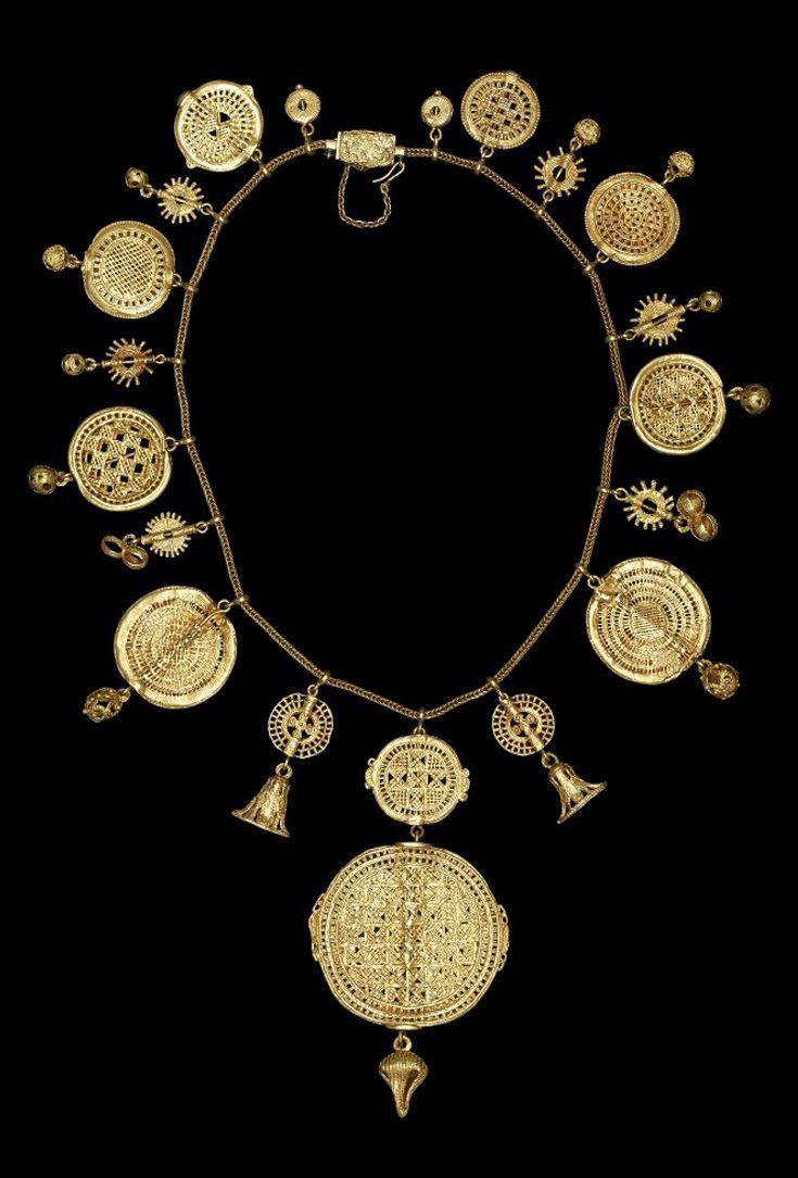 19e-eeuwse gouden halsketting uit Ghana