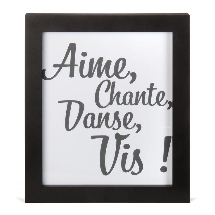 Image encadrée 24x30cm : la clé du bonheur Noir et blanc - Aime - Affiches décoratives - Affiches et déco murale - Salon et salle à manger - Décoration d'intérieur - Alinéa