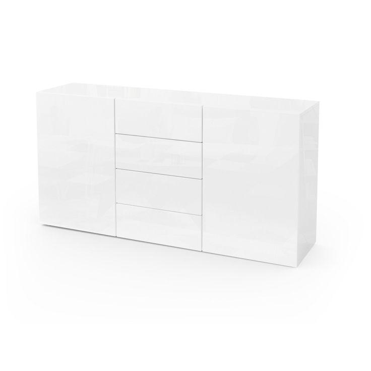 Sideboard Kommode Anrichte Highboard Schrank Massa 139 cm in Weiß Hochglanz | Möbel & Wohnen, Möbel, Anrichten | eBay!
