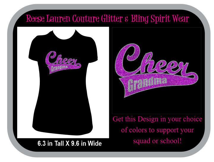 PERSONALIZE Your CHEER Grandma - T-shirts by ReeseLaurenCouture on Etsy