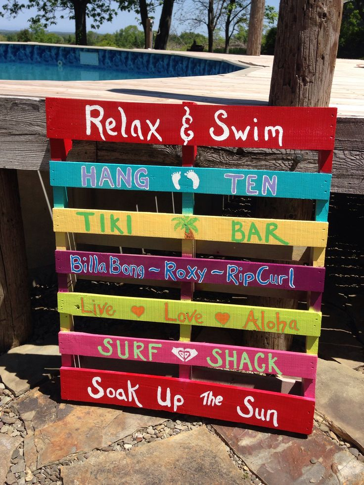 Swimming Pools Accessories   Noodle Holder For Swimming Pool, Made From Old  Pallet.