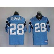 Panthers #28 Jonathan Stewart Blue Stitched NFL Jersey