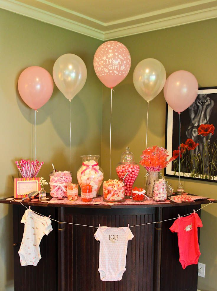 Baby Shower Candy Buffet. Love the display!