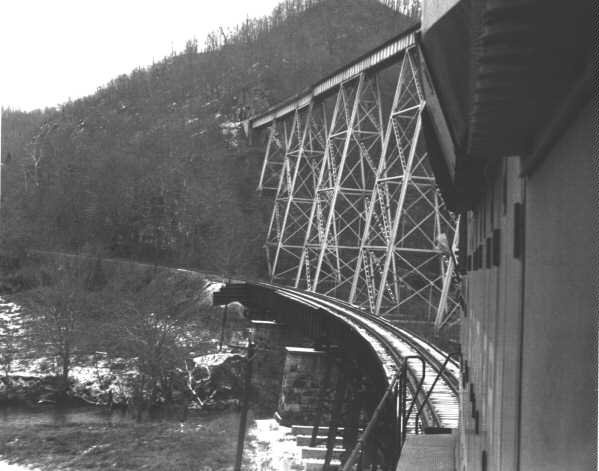 Speers Ferry railroad bridges crossing the mouth of Copper Creek at the Clinch River in Scott County, Va. My great uncle Sam Qualls helped build the tall trestle. Quite a feet of engineering in the early 1900s. It was originally a wooden structure.