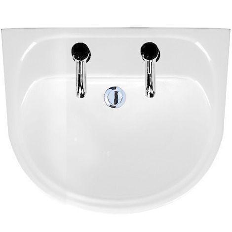 Demi basin - 2 tap hole