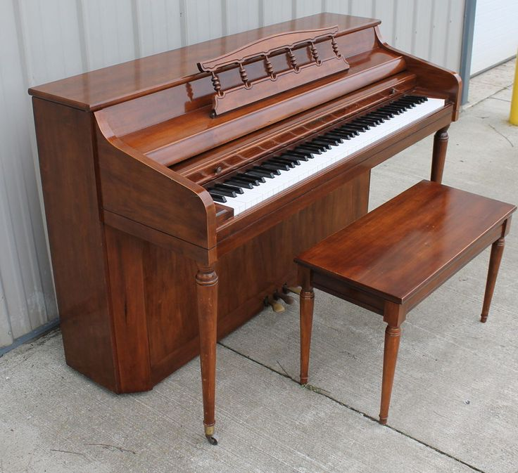 WHITNEY KIMBALL PIANO WITH BENCH SERIAL NO A 10683 PEARLY WHITE KEYS