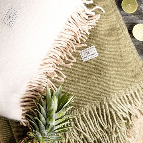 Red Lychee Summer Collection contains four collors of blankets. Crafted from finest wool are suitable for any outdoor activities.