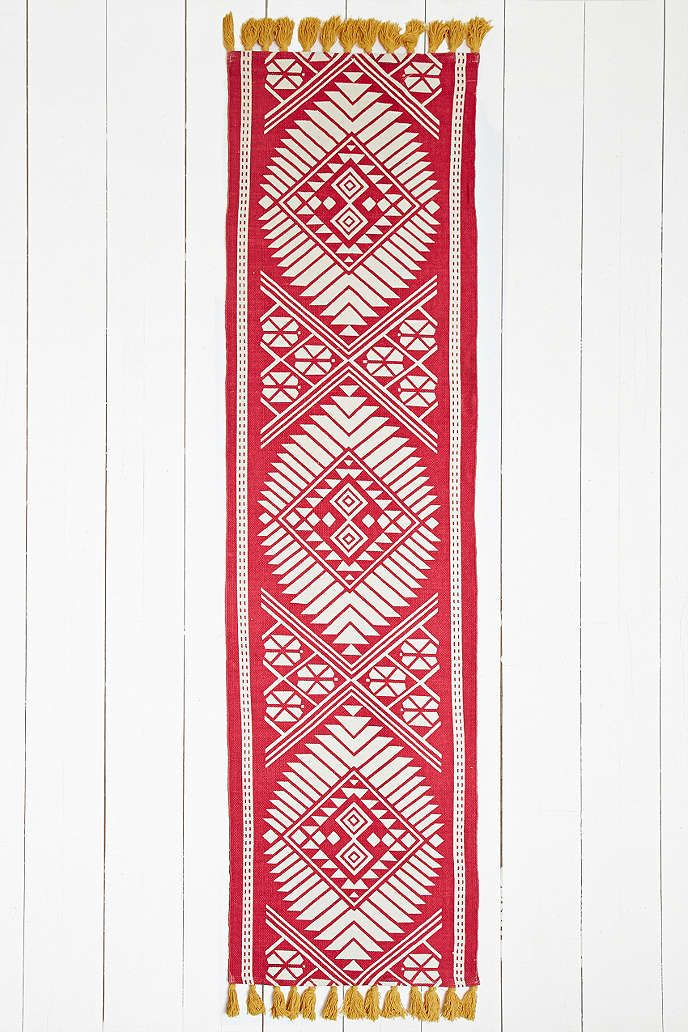 Naira 2x8 Rug in Red - Urban Outfitters