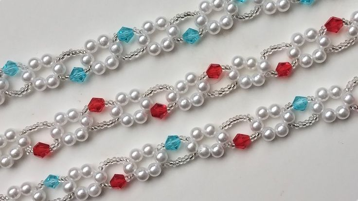 Beginner jewelry pattern . DIY 3 beaded bracelets with the same pattern