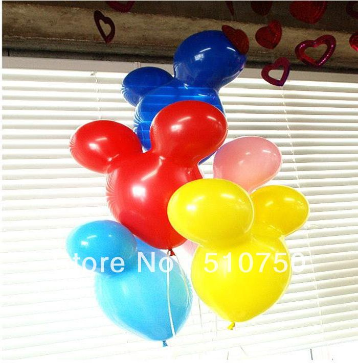 Free shipping 20pcs Mickey Mouse shape latex balloons Animal balloon for party decoration Toy party wedding birthday $7.90
