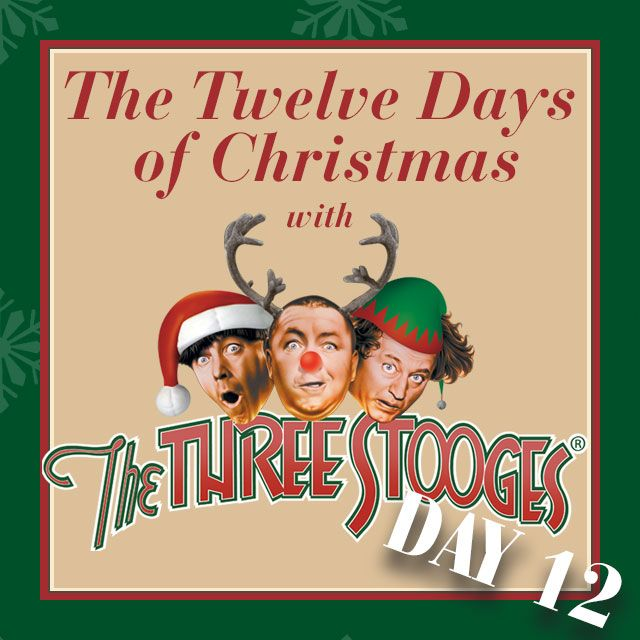 Day 12! Nobody drums more than Moe...ON Larry, Curly & Shemp! #christmas https://youtu.be/QN4v1JeqJUQ #threestooges #giftideas