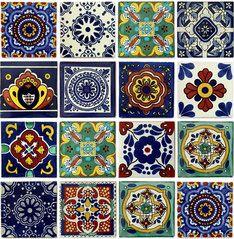 bunte dekorfliesen 15x15 handbemalt aus mexiko