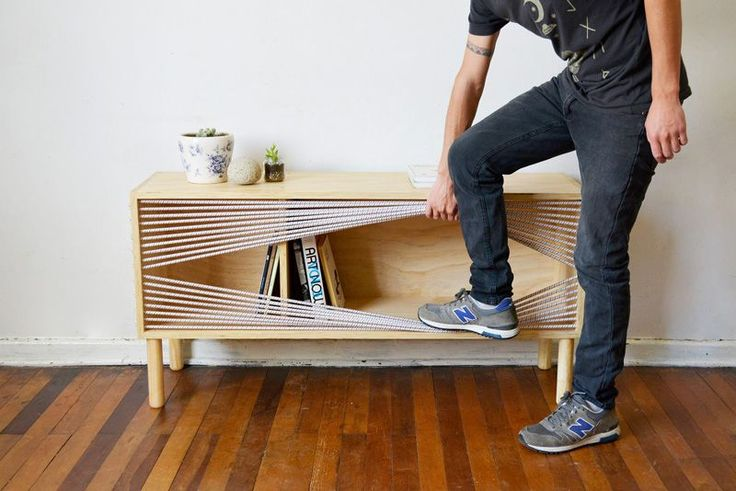 This sideboard was inspired by a boxing ring