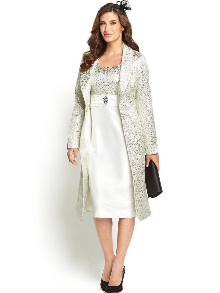 Jacquard Dress And Coat Suit