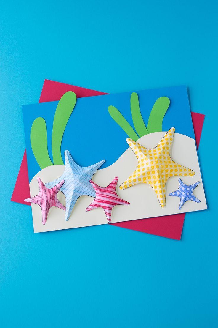 Starfish Texture Art Summer ArtSummer CraftsCrafts