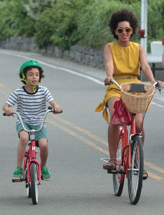 Solange Knowles w/ her son Julez Smith