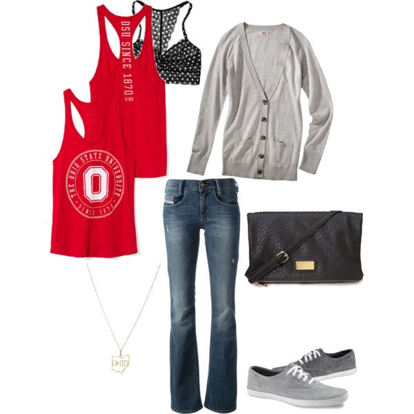 """Ohio State Game Day"" by jconley14 on Polyvore. #polyvore #outfit #ohiostatebuckeyes"
