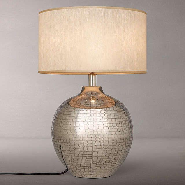 BuyJohn Lewis Savanna Animal Etch Lamp Base, Nickel Online at johnlewis.com