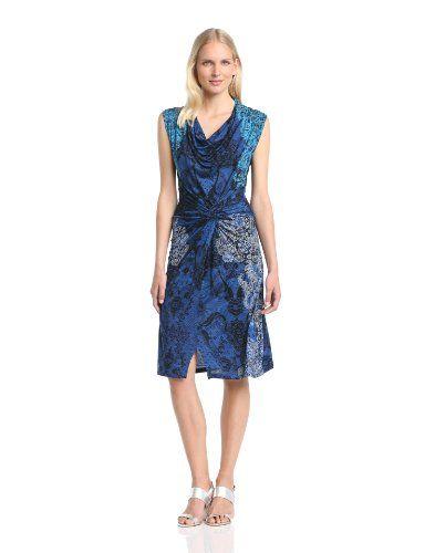 Desigual Carol - Vestito, senza maniche, donna, Blu (Blau (Marino)), L -