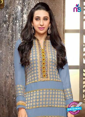 Elezita 58013 Blue and Yellow Georgette Straight Suit