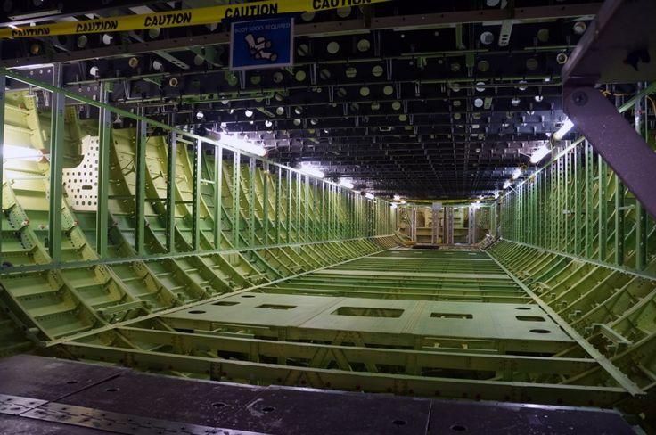 Everett Boeing 777 factory - cargo hold
