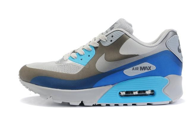 http://www.womennikeshoes.com/women-nike-air-max-90-hyperfuse-grey-blue-p-592.html WOMEN NIKE AIR MAX 90 HYPERFUSE GREY BLUE Only $72.28 , Free Shipping!