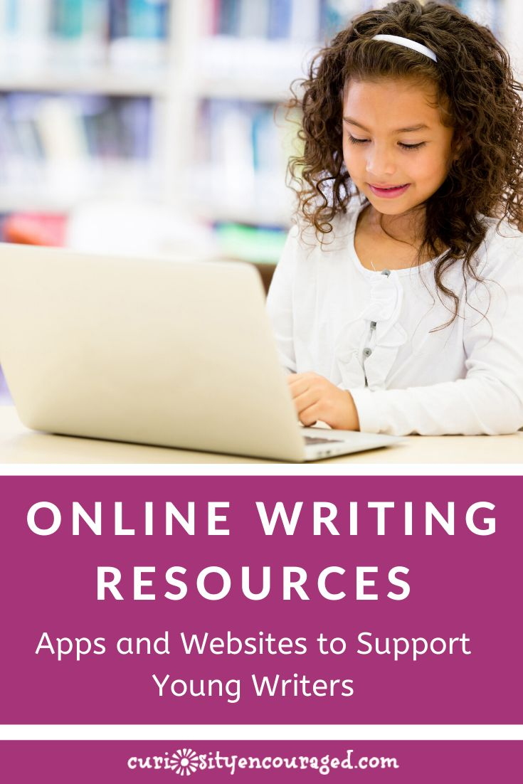 Awesome online writing resources- apps to get kids playing with words and stories, websites to help kids take their writing to the next level, ways to publish, connect with other young writers, and find encouragement.