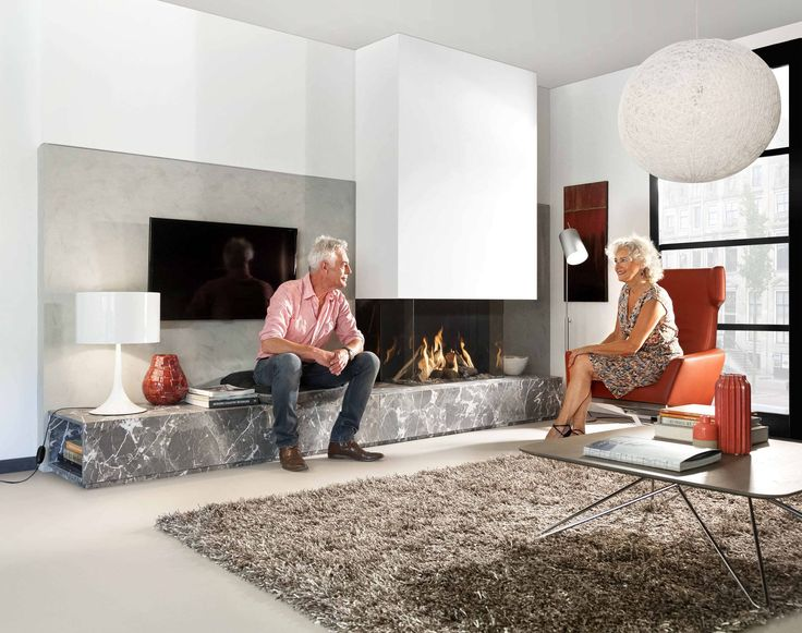 Gas fireplace / 3-sided / closed hearth / contemporary FAIRO ECO-PRESTIGE 85 Kal-fire