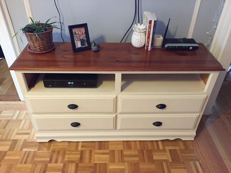 cb7753222bdb8ae8d73e3f71b30a7844 how to turn a dresser into a tv stand dresser makeover tv stand