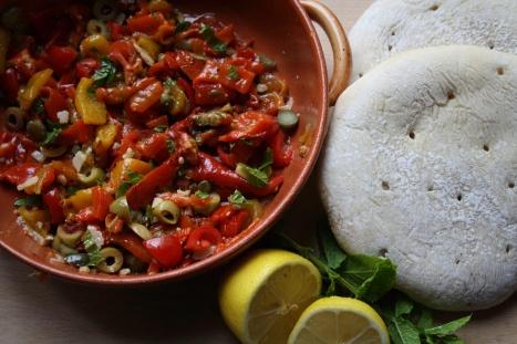 Zomers broodje paprika