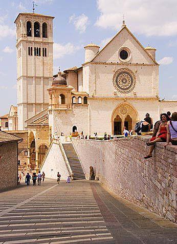Saint Francis Basilica, or San Francesco Basilica, Assisi, Italy