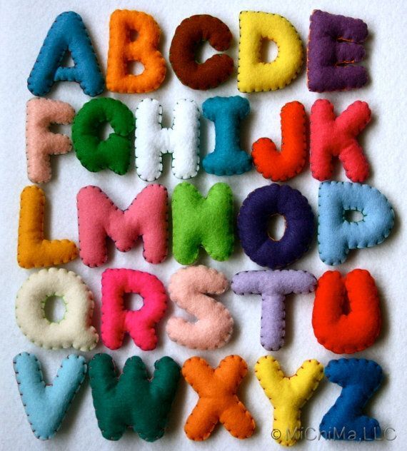 Felt alphabet.  Would be fun to have these in a bin in a classroom.