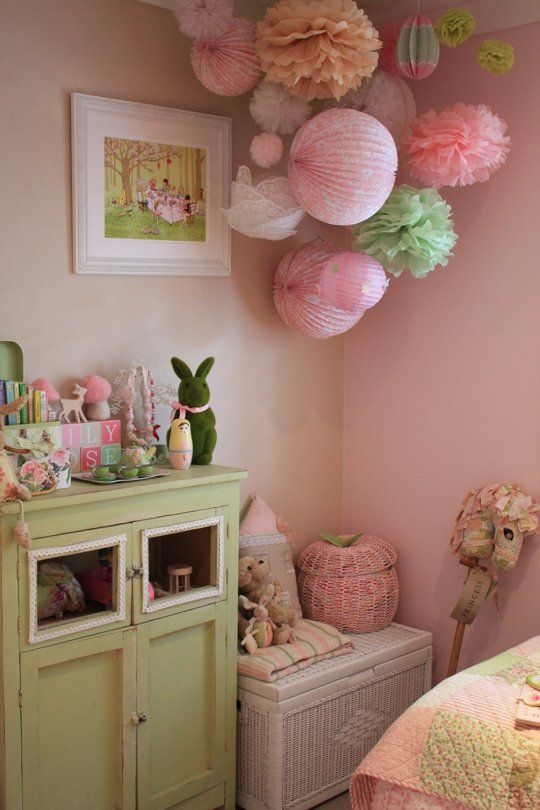 Lily Rose's Shabby Chic Space: pink kids room