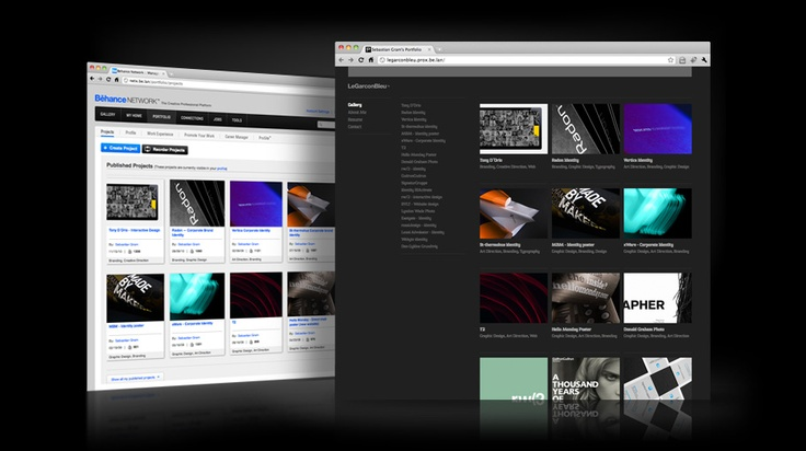 Behance prosite builder. Another option for the non-web-savvy designer...