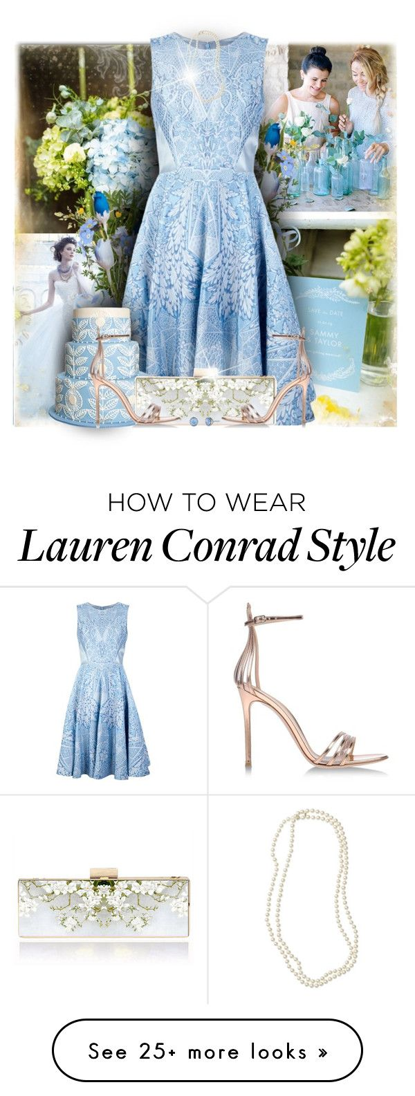 """""""Wedding Guest"""" by daiscat on Polyvore featuring Lauren Conrad, Lazaro, Temperley London, Gianvito Rossi, Lonna & Lilly and Nordstrom"""
