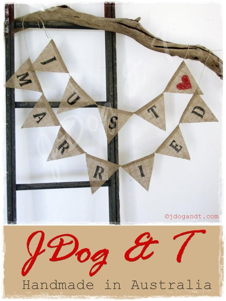 The 25 best diy just married bunting ideas on pinterest diy just married wedding bunting burlap hessian vintage photo prop rustic decoration ebay junglespirit Images