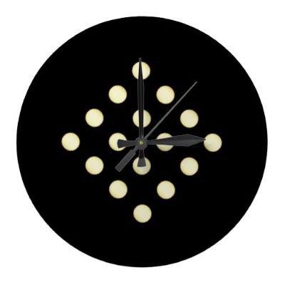 16 Dots - Wall Clock from Zazzle.com