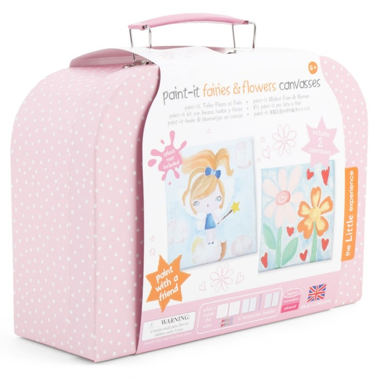 The Little Experience Paint-it fairies & flowers canvasses #backtoschool