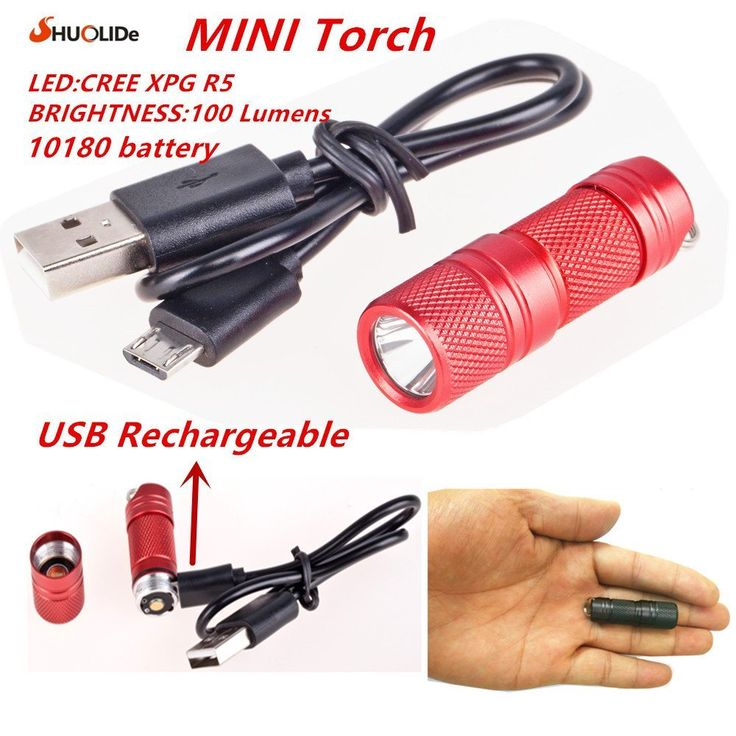 USB Rechargeable portable waterproof Light Aluminium Alloy super Mini Flashlight CREE XPG R5 Led Flashlight Torch Led keychain //Price: $11.75//     #shop